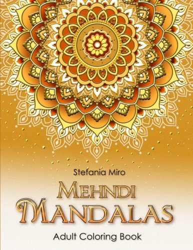 Pdf Crafts Mehndi Mandalas Adult Coloring Book White Background