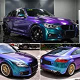 PURPLE BLUE Chameleon Glossy Vinyl Car Wrap Sticker Car Body Films Sticker Decal Roll 1.52Mx5M