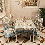 Table cloth,European high-grade fabric rectangular household tablecloth-B 130x130cm(51x51inch)