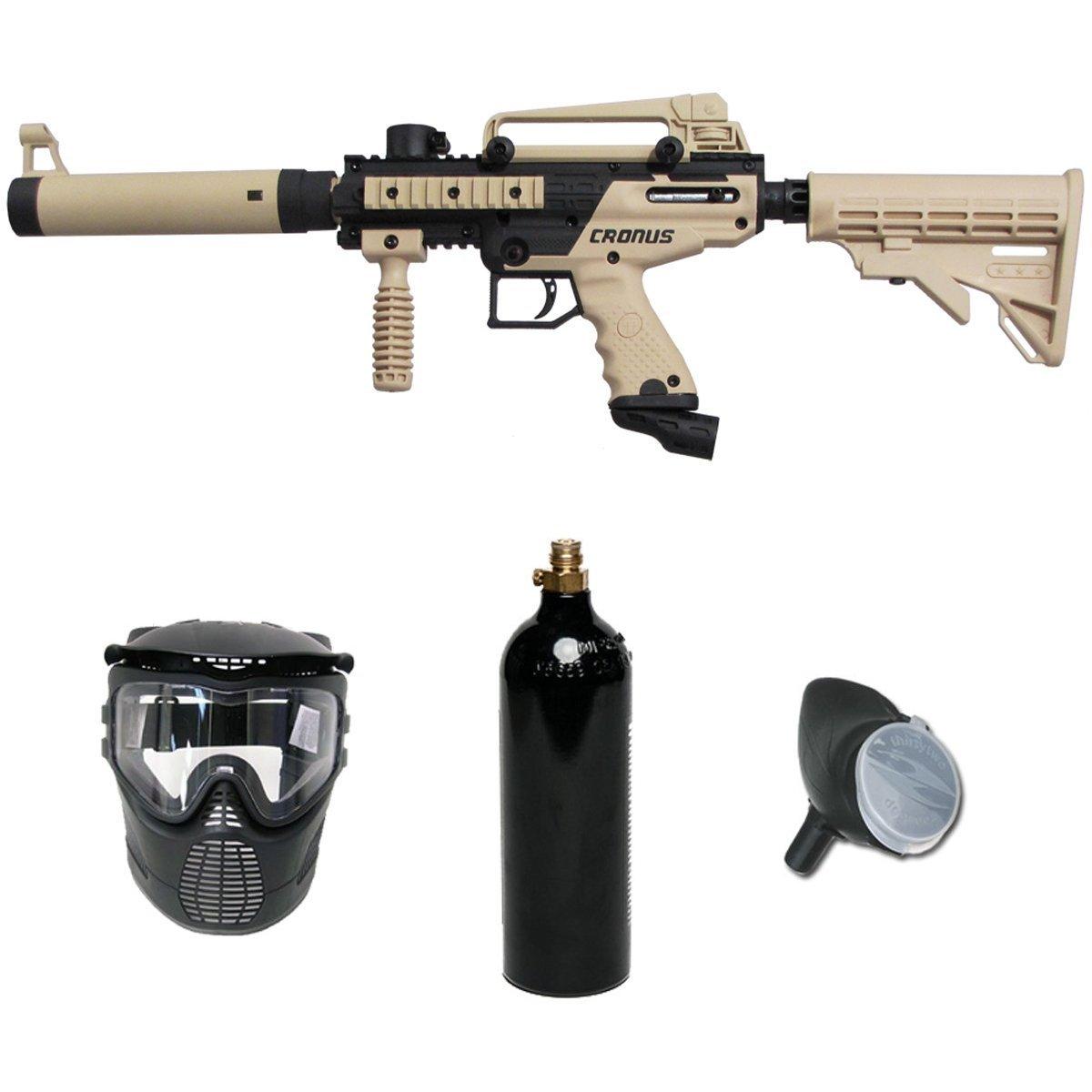 Tippmann Cronus Paintball Marker Gun -Tactical Edition- Tan Basic Package