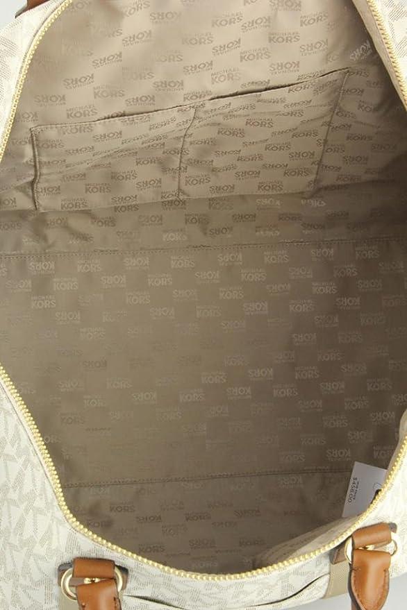 c9c4382fe3ba Amazon.com  Michael Kors 35T6GTFU4B Travel XL Vanilla PVC Duffle Weekender  Carry On Luggage Bag