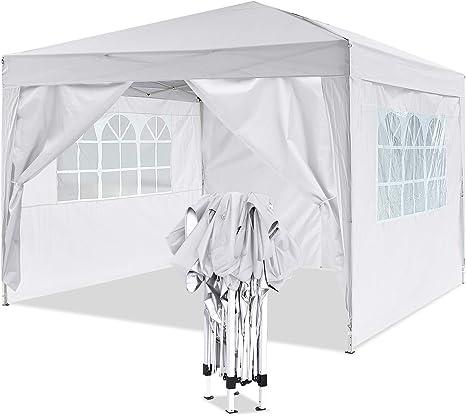 YUEBO Gazebo 3x3 m Carpas Plegables Impermeables Pergola Plegable Cenador Camping Cenadores para Jardin, Playa, terraza