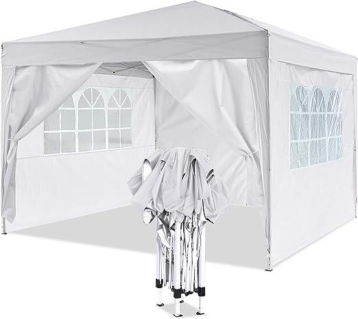 YUEBO Gazebo 3x3 m Carpas Plegables Impermeables Pergola Plegable Cenador Camping Cenadores para Jardin, Playa, terraza: Amazon.es: Jardín