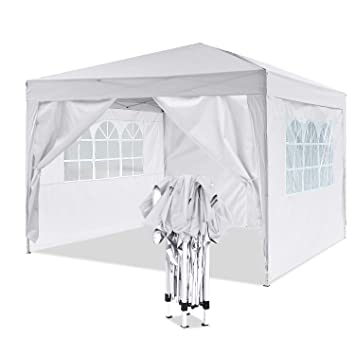 YUEBO Tonnelle de Jardin Tente Pliante 3x3 m Pavillon imperméable Gazebo  Pliable Tente de Reception