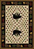 Bear Patchwork Natural Rug - 4 x 5