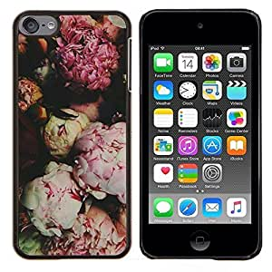Eason Shop / Premium SLIM PC / Aliminium Casa Carcasa Funda Case Bandera Cover - Flores de apertura Cerrado Rosa - For Apple iPod Touch 6 6th Touch6