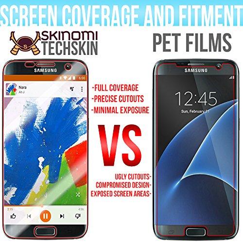Galaxy S7 Edge Screen Protector + Full Body, Skinomi TechSkin Full Coverage Skin + Screen Protector for Galaxy S7 Edge Front & Back Clear HD Film