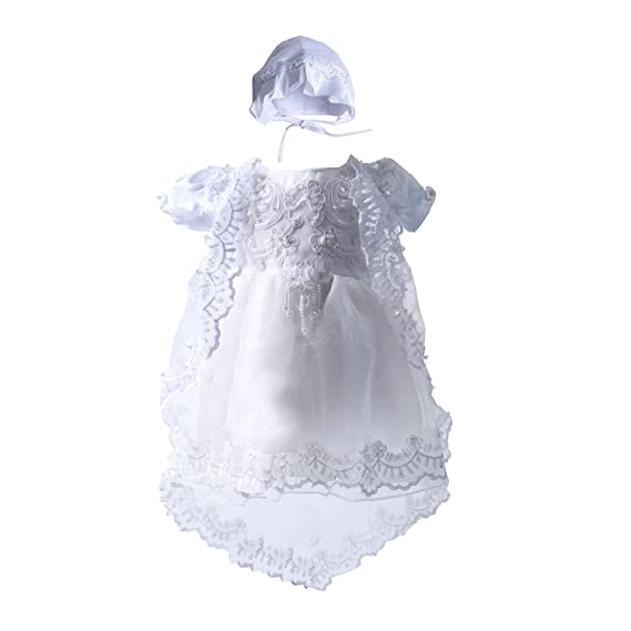 Glamulice Baby Girls Flower Christening Baptism Dress Formal Party Special Occasion Dresses for Toddler