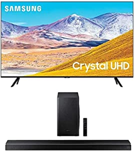 SAMSUNG 65-inch Class Crystal UHD TU-8000 Series - 4K UHD HDR Smart TV with Alexa Built-in + HW-Q60T 5.1ch Soundbar with 3D Surround Sound and Acoustic Beam (2020)