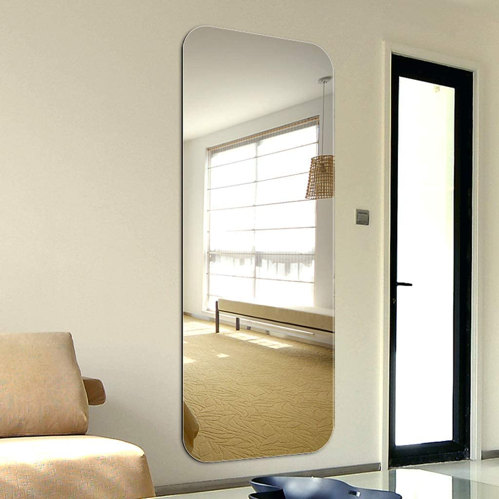 Lpf Specchio a Figura Intera Senza Bordo Dormitorio a Specchio a Lunghezza Intera Studenti a Basso costo Speciali Adesivi murali a Specchio a Figura Intera