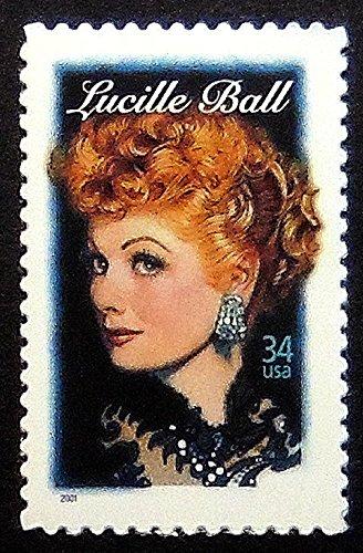 - Lucille Ball USA -Handmade Postage Stamp Art 0357