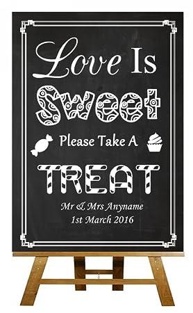 Cartel personalizado para boda (A5), estilo vintage, diseño ...