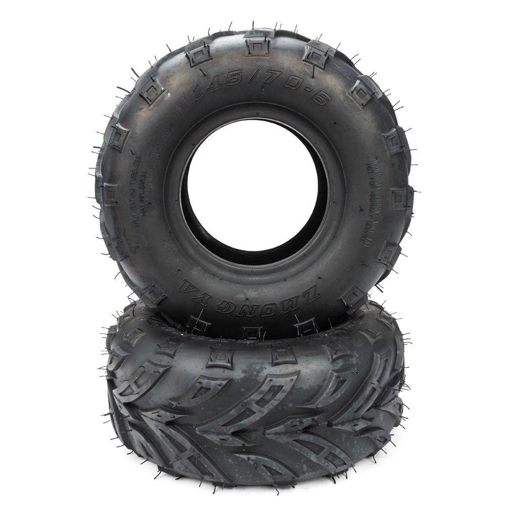 ATV Tires Pack of 2 145/70-6 (145x70-6) for Sport ATV & Off road Go Kart Tires 4PR P361 4 Ply
