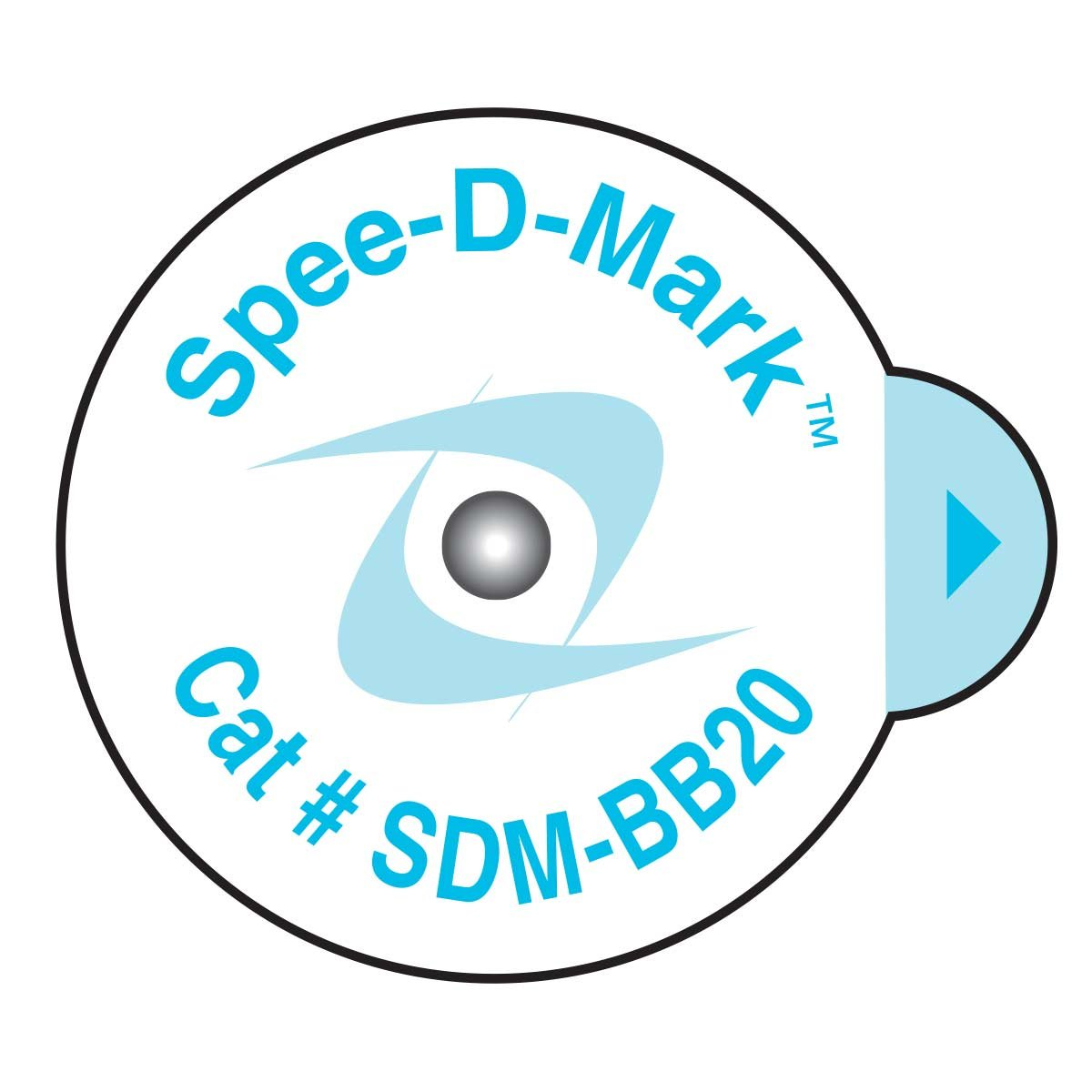 Spee-D-Mark SDM-BB20 Mammography Skin Marker Nipple Radiopaque, 2.0 mm Size (Box of 100)