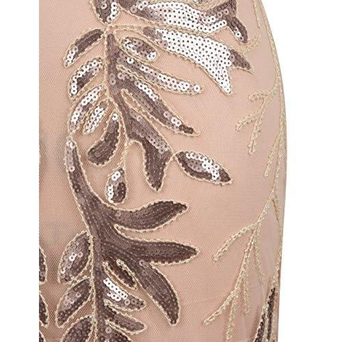 PrettyGuide Women Evening Dress 1920s Ball Gown Black Sequin Flapper Long Formal Dress