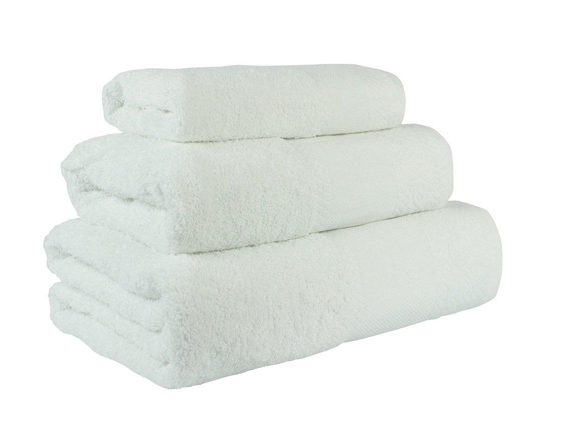 (Blanco) Juego de toallas de baño 3 piezas REGALITOSTV (1 toalla de baño