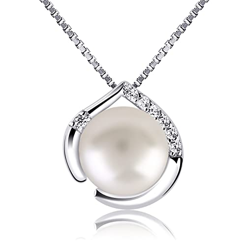 07bde650dd03 B.Catcher Perla Collar Mujer Plata de Ley 925 con Para Originales Cadena  45cm Longitud  Amazon.es  Joyería
