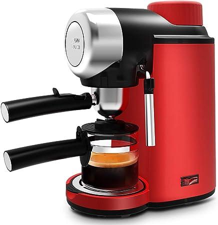 DPPAN Maquina de Cafe 2 Tazas con Botella de Vidrio, Cafetera con vaporizador de Leche de Acero Inoxidable,Red: Amazon.es: Hogar