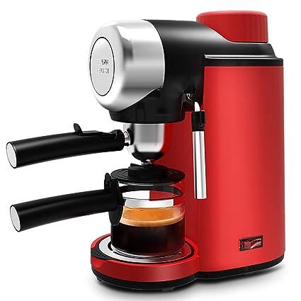 DPPAN Maquina de Cafe 2 Tazas con Botella de Vidrio, Cafetera con vaporizador de Leche