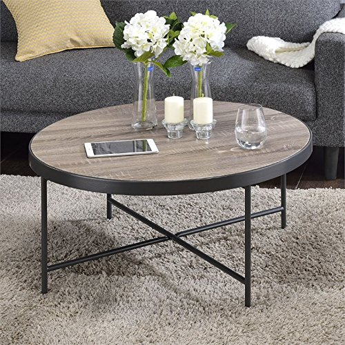 ACME Furniture Acme 81735 Bage Coffee Table, Weathered Gray Oak, One Size