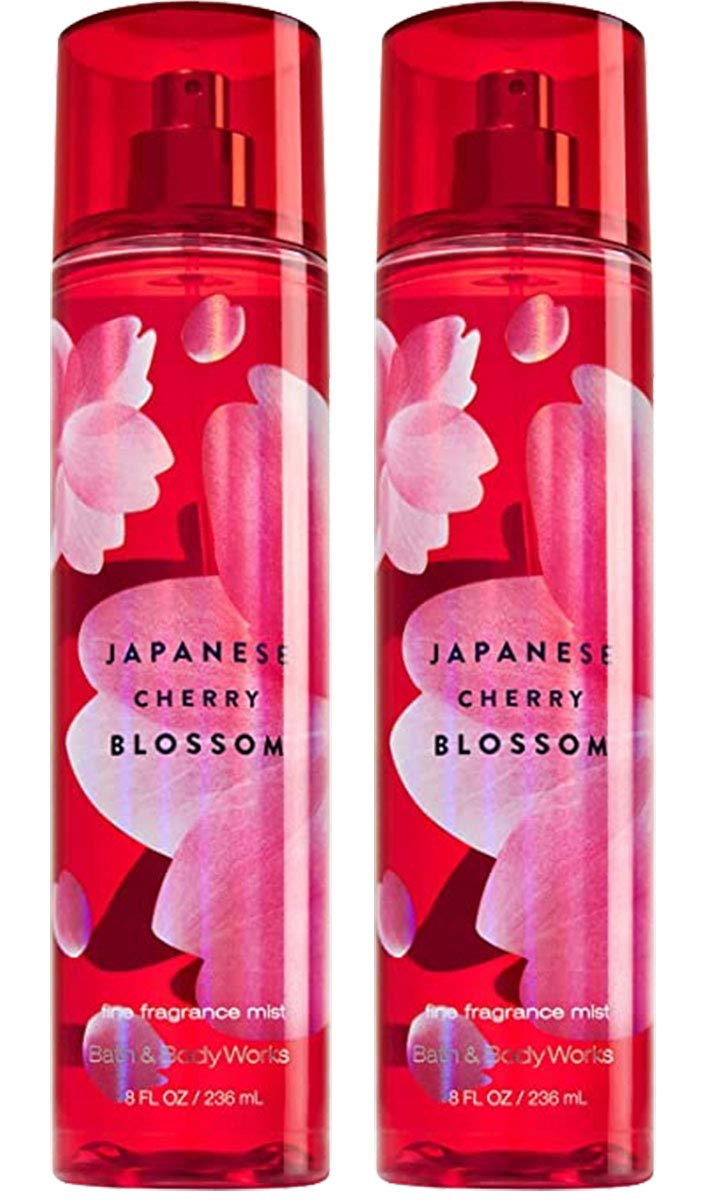 Bath and Body Works Fine Fragrance Mist - Full Size 8 fl oz Japanese Cherry Blossom (Set of 2)
