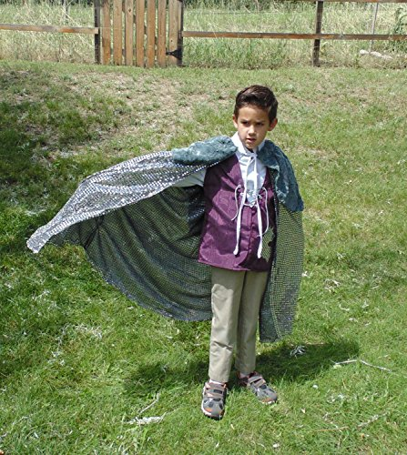 Boys 5-7 adjustable Wolf Prince with Doublet and Faux Fur Cape ! by Fru Fru and Feathers Costumes & Gifts