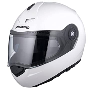 Schuberth C3 Pro Brillo Blanco Motocicleta Casco