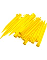24pcs Plastic Tent Pegs Durable Spike Hook Awning Camping Caravan Pegs Accessory