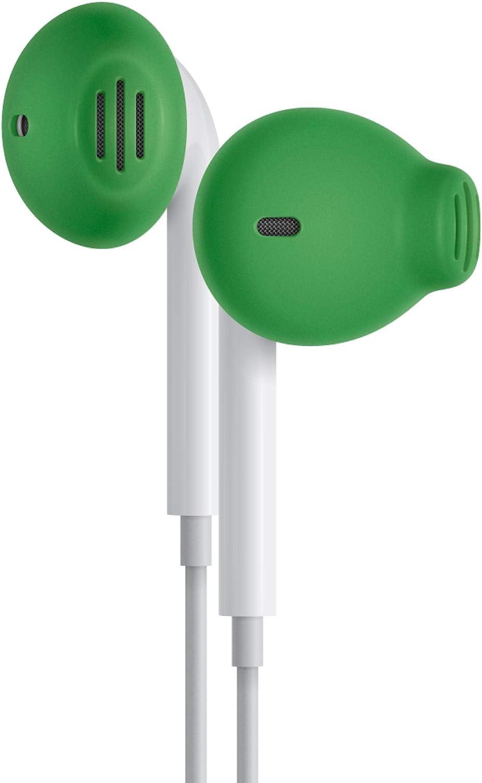 EarSkinz EarPod Covers (ES2) - Green - for Apple iPhone X / 8/7 / 6S / 6 / 5S / 5SE / 5C / 5