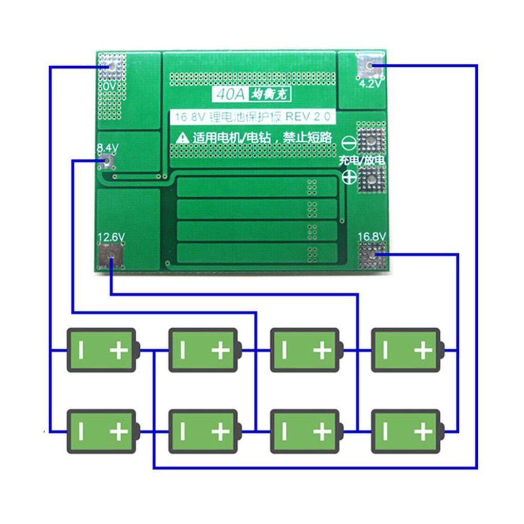 40A Li-ion batterie au lithium 18650 Protection Board PCB BMS Drill Motor 14.8V 16.8V Lipo Module cellulaire Censhaorme
