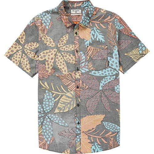 Billabong Big Boys' Sundays Floral Short Sleeve Shirt, Midnight, (Billabong Blue Shirt)