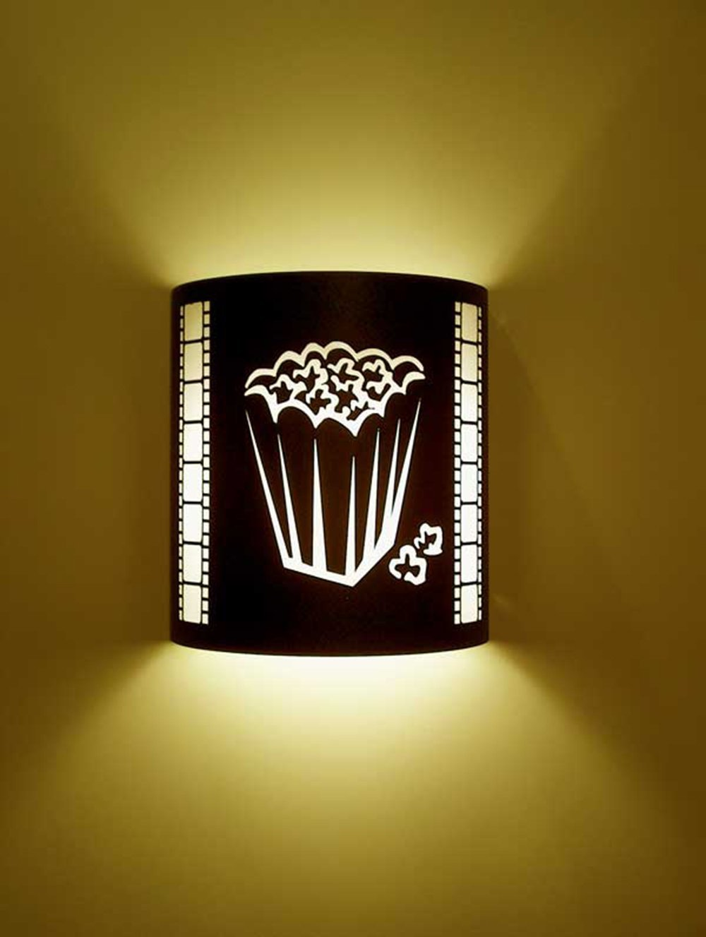 Popcorn Black Home Movie Theater Sconces w/ Filmstrips by Stargate