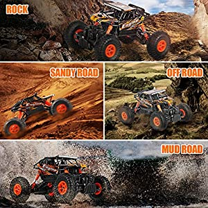 Theefun 1:18 RTR RC Rock Crawler 2.4Ghz Remote Control Car 4WD Off Road RC Monster Truck