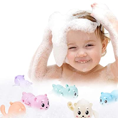 Ywoow 6Pc Swimming Clockwork Toy Bathroom Toy Baby Bathroom Toy Set for Boys and Girls, Penguin Swimming Bath Shower Bathing Toy US Warehouse Sent: Home & Kitchen