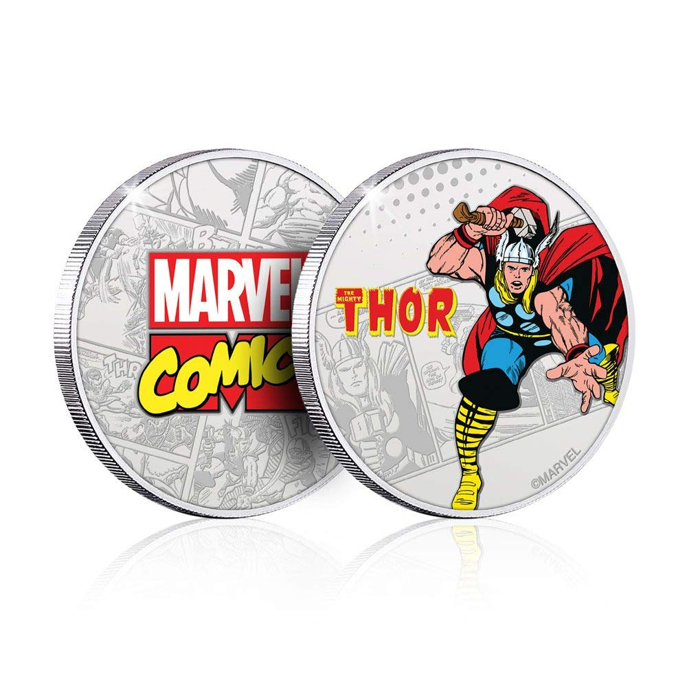 Marvel Collectable Coin Thor (Silver Plated) Iron Publishing Coins