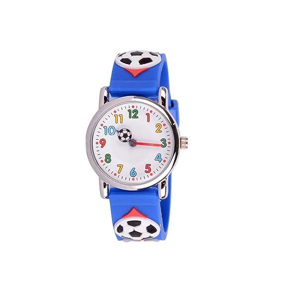 Wolfteeth Jóvenes Niños Pequeños Niños Niños Enfriar Reloj Muñeca Profesor, Caricatura 3D Fútbol Azul Joyería 303602: Amazon.es: Relojes