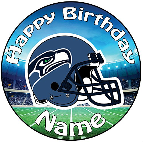 AKGifts Personalised American Football NFL Seattle Seahawks Icing Cake Topper - 8