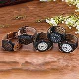 SOURBAN Men's Sports Watch Fashion Casual Military Leather Wrist Watch