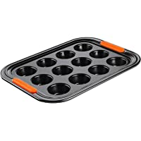 LE CREUSET 94100140000000 Toughened Non-Stick Bakeware 12 Cup Muffin Tray, Carbon