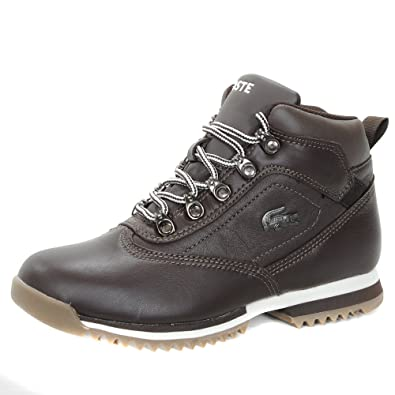 aeb4389904f8c5 Lacoste Horben Leather Ankle Hi Kids Boots - Brown 3.5 UK  Amazon.co ...
