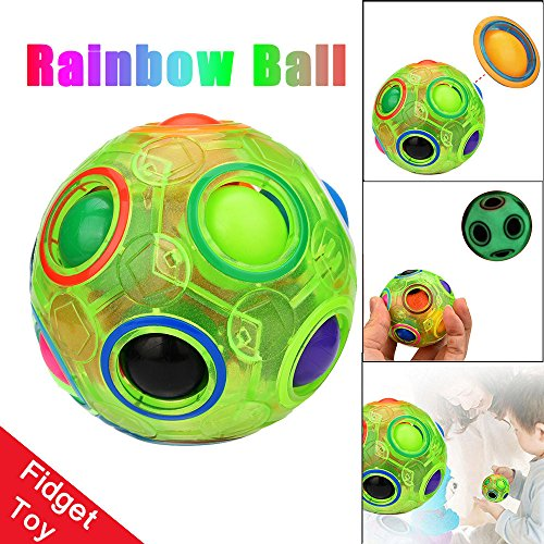 - JonerytimeBaby ToyLuminous Stress Reliever Magic Rainbow Ball Fun Cube Fidget Puzzle Education Toy for Kids/Adults
