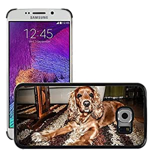 Super Stella Slim PC Hard Case Cover Skin Armor Shell Protection // M00146198 Dog Pet Dog Cocker Cocker Spaniel // Samsung Galaxy S6 EDGE (Not Fits S6)