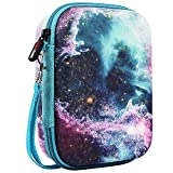 COMECASE Galaxy Hard Carrying Case for Pokemon Trading Cards, Card Game Holder Storage Holds Up to 400 Cards. Removable Divider and Hand Strap Offered