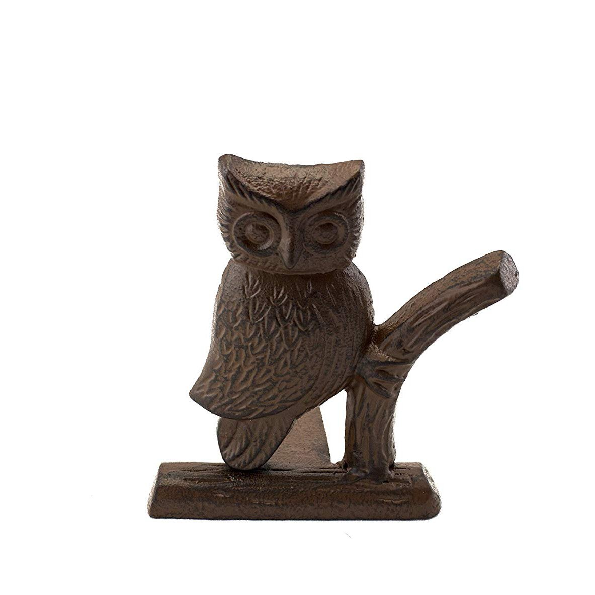 "Comfify Cast Iron Owl Door Stop | Decorative Door Stopper Wedge | with Padded Anti-scratch Felt Bottom | Vintage Design | 6x6.5x6.3"" by (Rust Brown)"