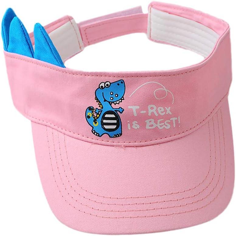 Dosige Berretto da bambino per bambini Cappello estivo da visiera a tesa larga regolabile per bambine bianca