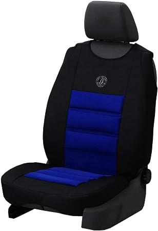 Saferide Sitzauflage Auto Vordersitze Autositzmatte Wasserdicht Autositzbezug Fahrersitz Universal Sitzschutz Velourlederimitat Blau Für Airbag Geeignet 1 Autositz Vorne Auto