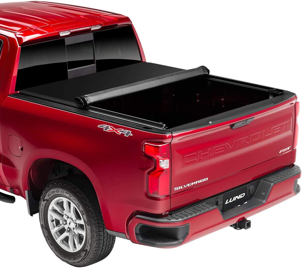 Lund 96864 Genesis Elite Roll Up Truck Bed Tonneau Cover for 2002-2018 Dodge Ram 1500; 2003-2018 Ram 2500, 3500 | Fits 6.5' Bed (Excludes Models w/RamBox)