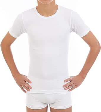 Pack Ahorro de 6 Unidades - Camiseta Interior Termal de niño L116, de Manga Corta y Cuello Redondo. Misma Talla y Color.