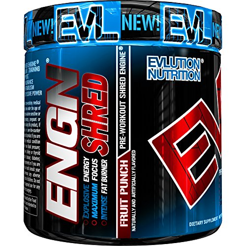 - Evlution Nutrition ENGN Shred Pre Workout Thermogenic Fat Burner Powder, Energy, Weight Loss, 30 Servings (Fruit Punch)