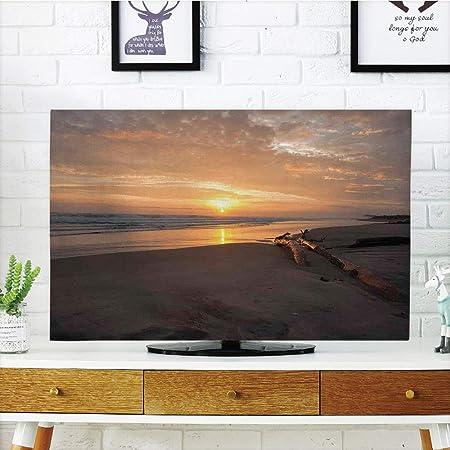 iPrint - Cubierta antipolvo para televisor LCD, diseño de bosque y madera de Dibujo en la Costa